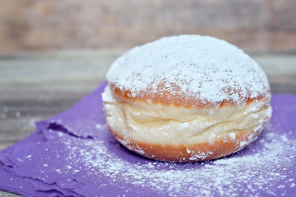 Donut, Berlin, Carnival, Sugar, Calories, Sweet Dish