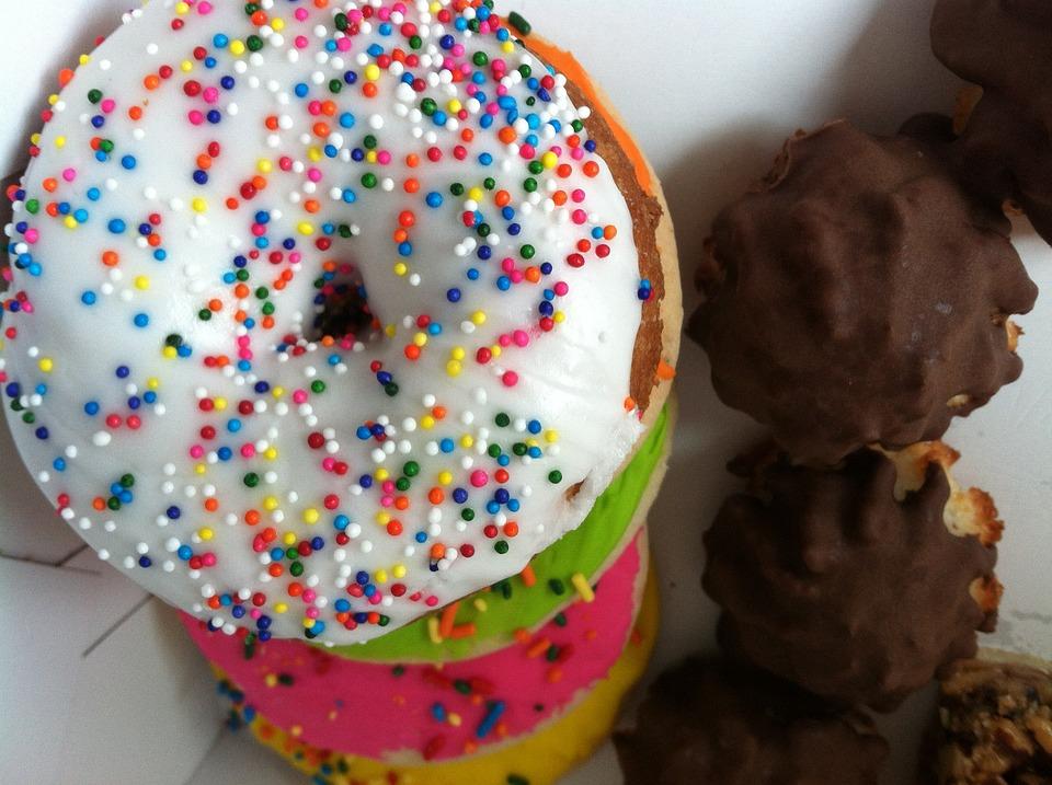 Donuts, Donut, Doughnut, Baked Goods, Dessert