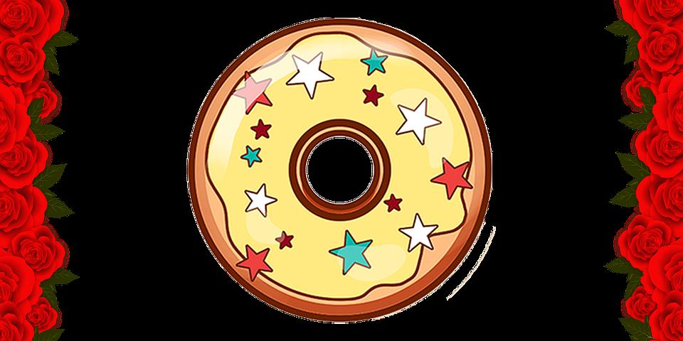 Donut, Donut Illustration, Donut Drawing, Donut Picture