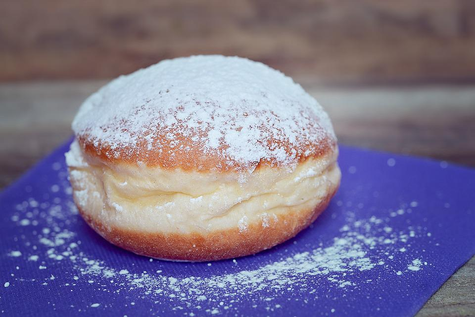Donut, Berlin, Carnival, Sugar, Sweet Dish, Dessert