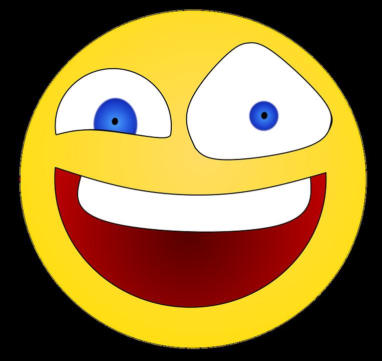 Smiley, Emoji, Stupid, Doof, Comic, Crazy, Expression