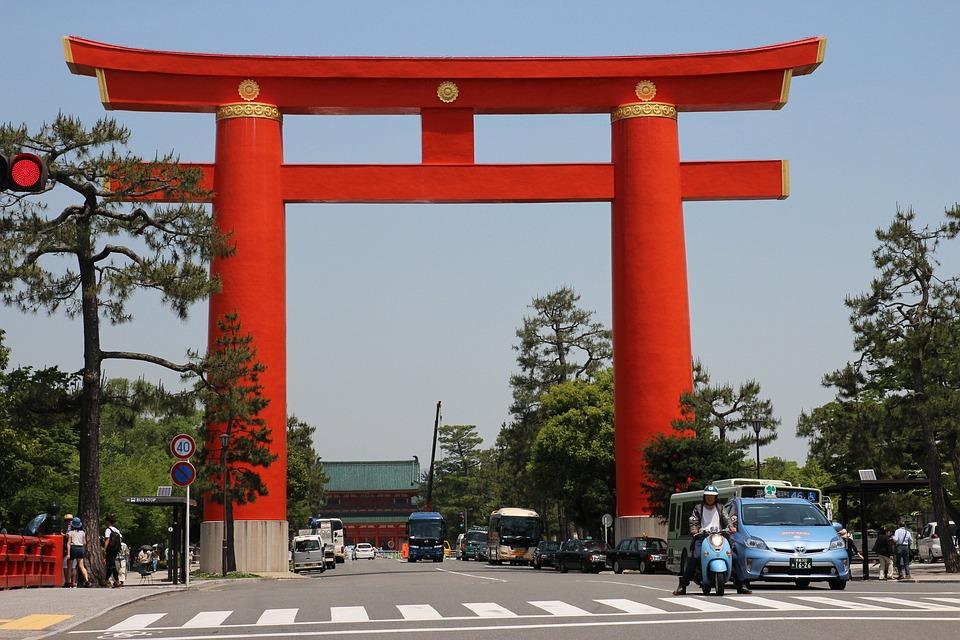 Agumon's Friends Who, Door, Red, Kyoto, Japan, Asia