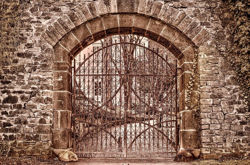 Goal, Architecture, Metal, Input, Door, Antique, Old