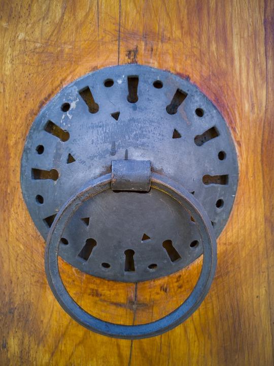 Knob, Door, Macro, Metal, Old, Date, Wood, Background