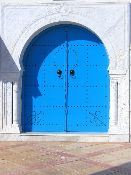 Door, Blue, Beautiful