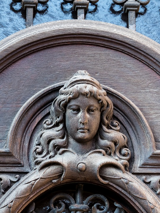 Architecture, Door, Historicism, Carving, Building