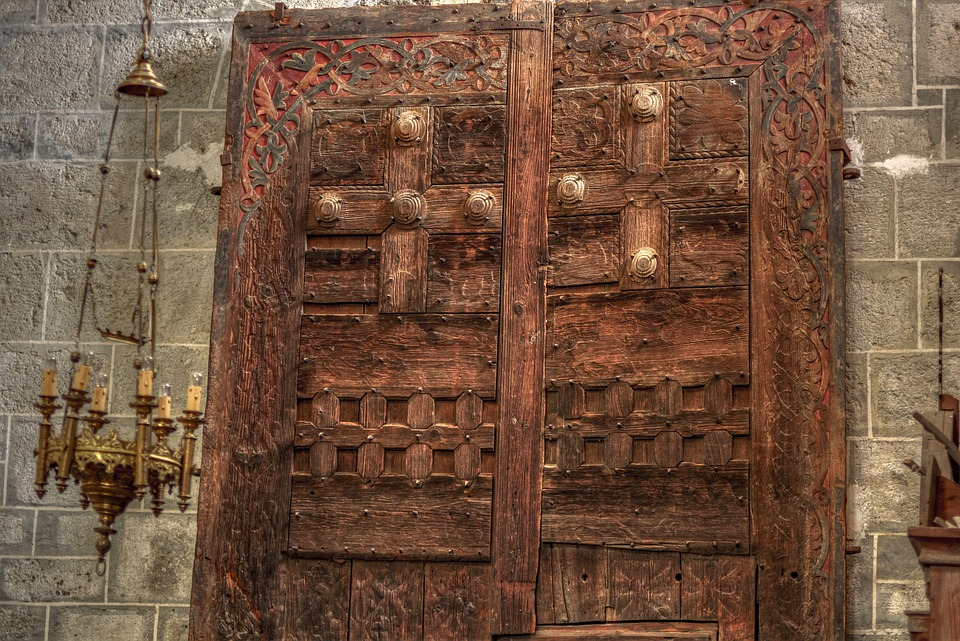 Door, Chamalières, Church, Authentic, Christianism