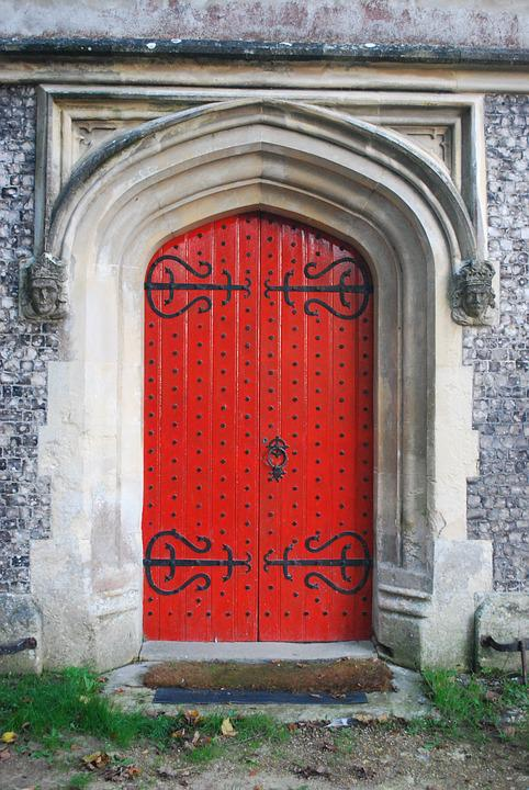 Door, Church, Old, Architecture, Entrance, Religion
