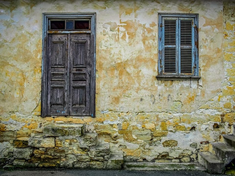 House, Old, Facade, Architecture, Decay, Door, Window