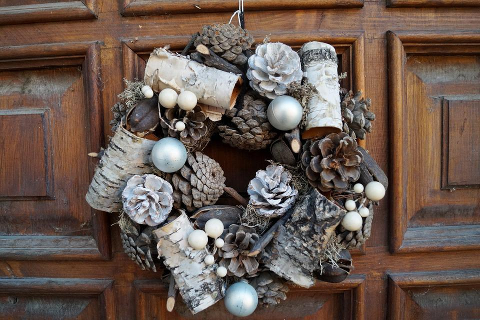 Wreath, Cones, Decoration, Door