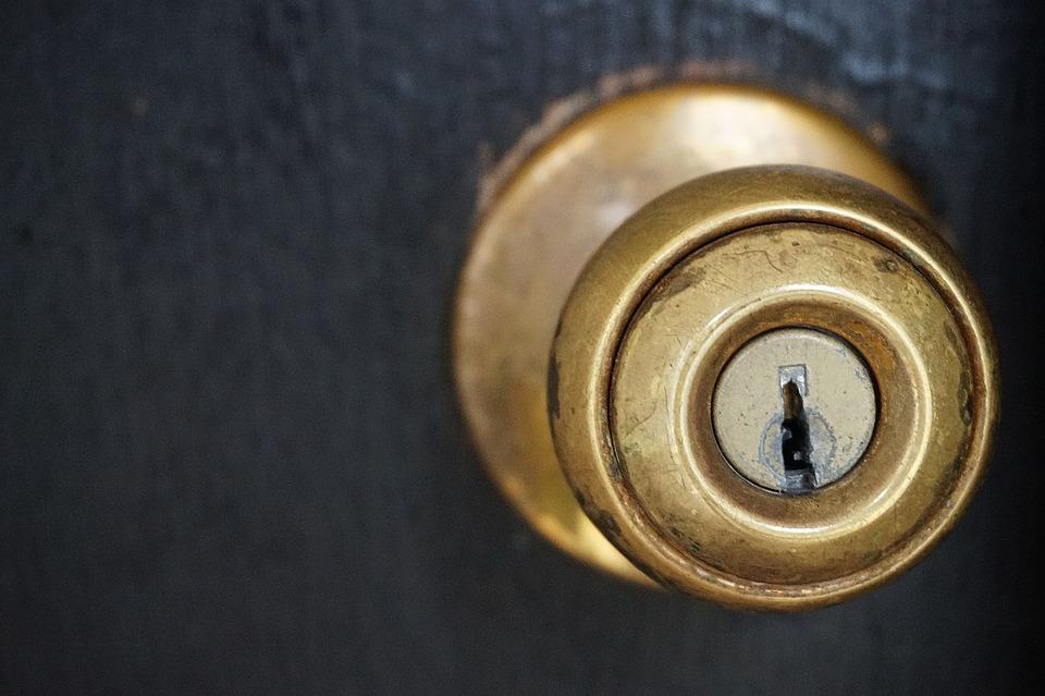 Door Knob, Door, Knob, Key Hole, Key, Front Door