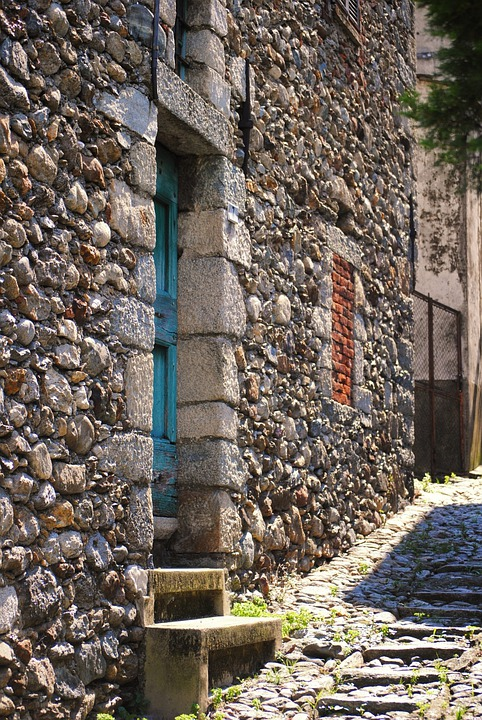 Door, Alley, Hill, House, Entrance, Colors, Stones