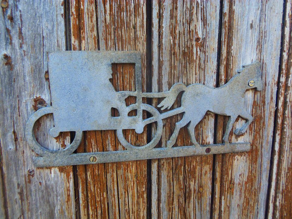 Sleigh, Iron, Metal, Wood, House, Door, Former