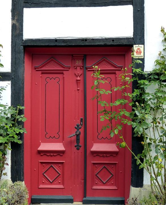 Door, Goal, House Entrance, Wood, Front Door, Gate