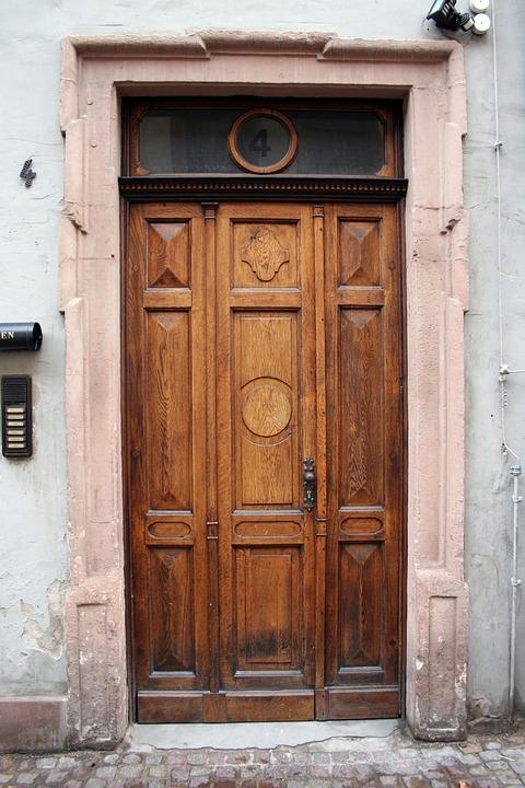 Door, Old, House Entrance, Wood, Input, Goal