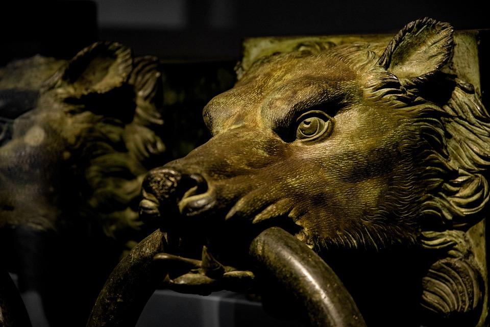 Wolf, Door Handle, Doorknob, Animal, Bronze, Metal
