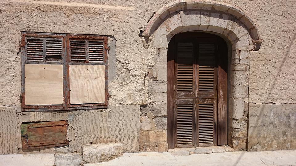 Door, South Of France, House Entrance
