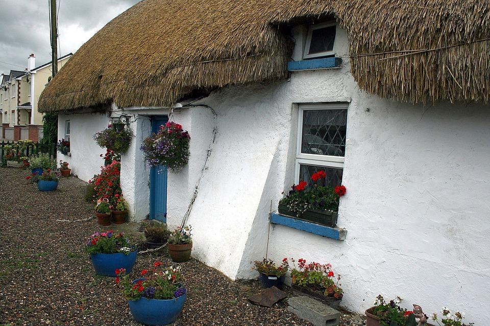 Ireland, Door, Ballyedmond, House, Home, Thatch
