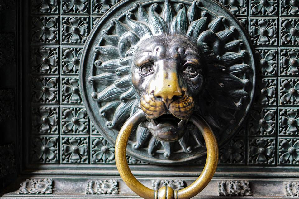 Delicieux Door, Lion Head, Lion, Door Knob, Metal, Input, Handle