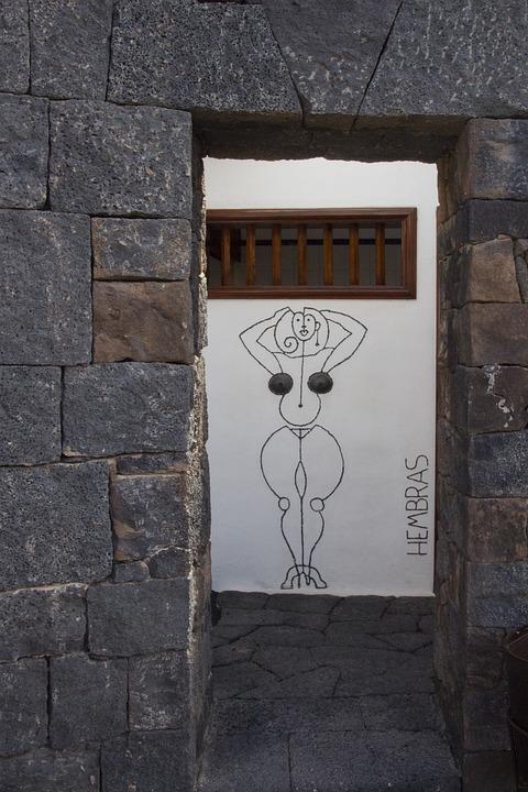 Toilet, Wc, Input, Ladies, Door, Wall, Lanzarote