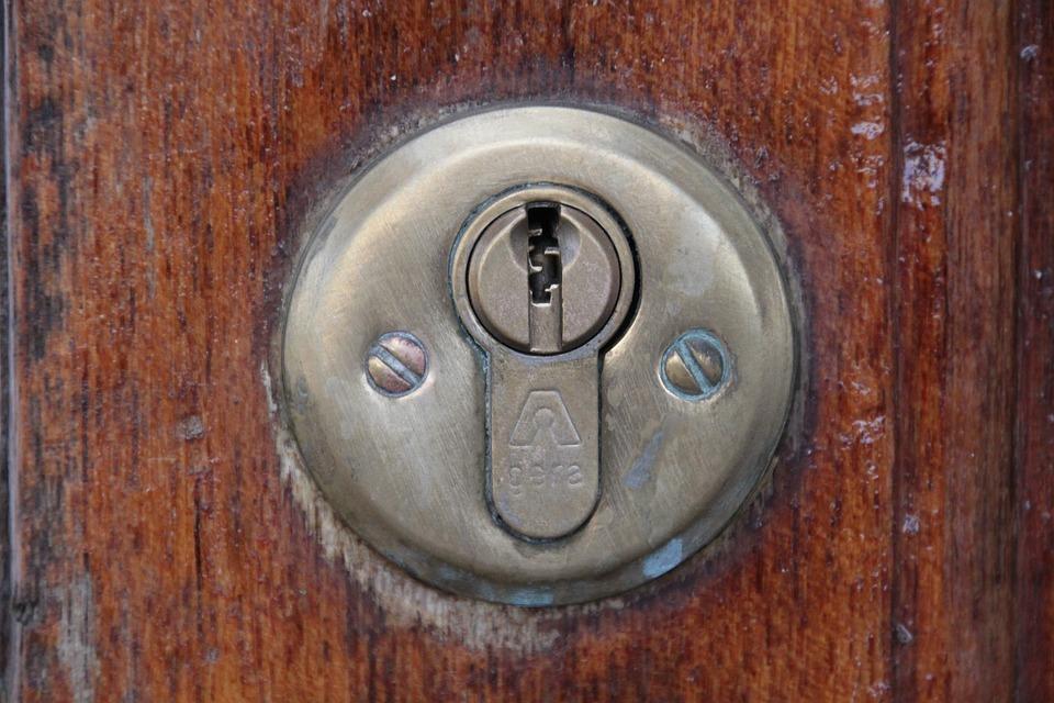 Door Lock, Castle, Key Hole, Door, Metal, Old, Fitting