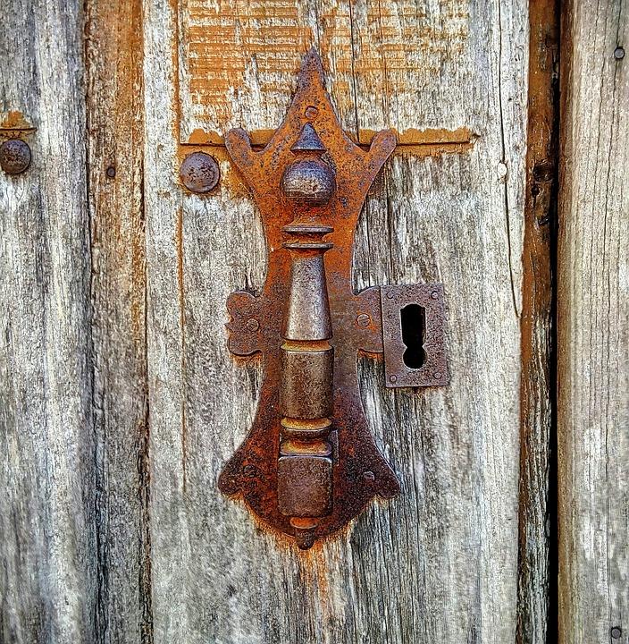 Door, Door Knocker, Lock