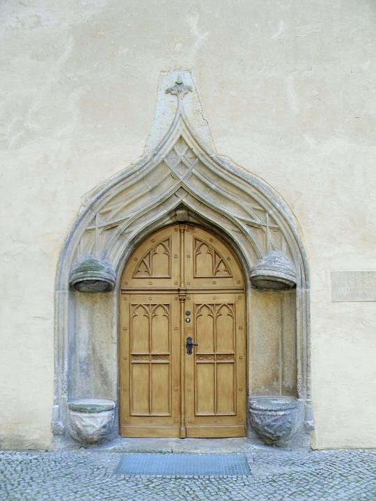 Wittenberg, Luther, Door, Building