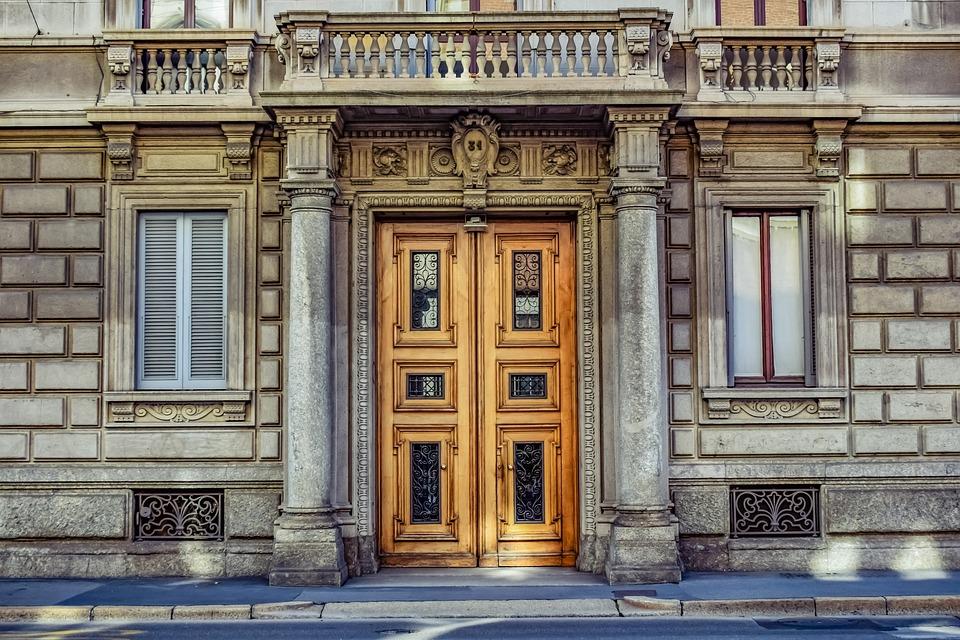 Facade, House, Door, Windows, Architecture, Old
