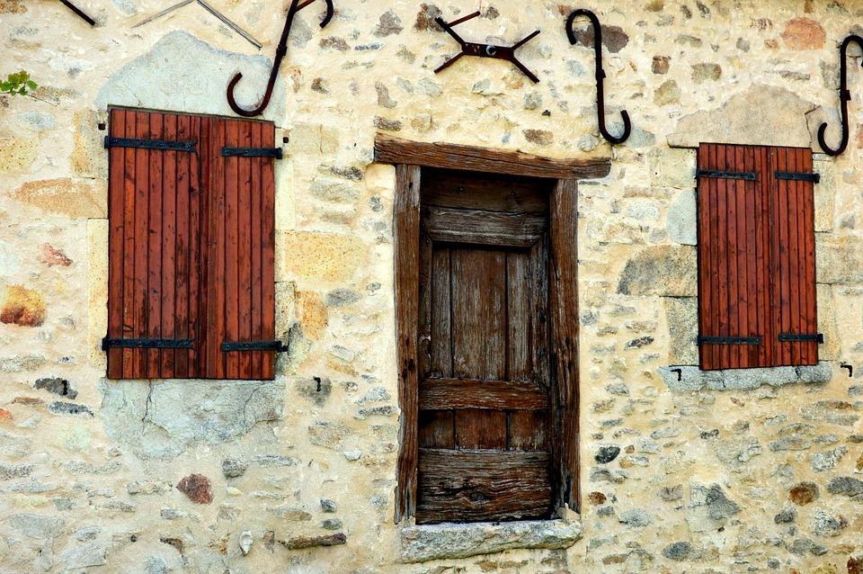Door, Shutters, Houses, Old House