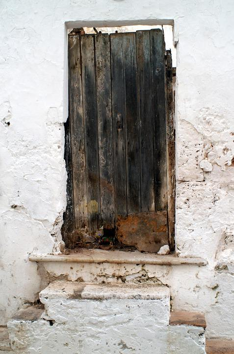 Door, Wood, Wall, Old, Brown