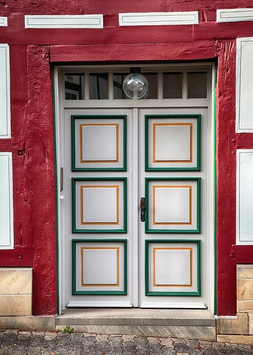Front Door, Wood, Old, Truss, Wooden Door, Door