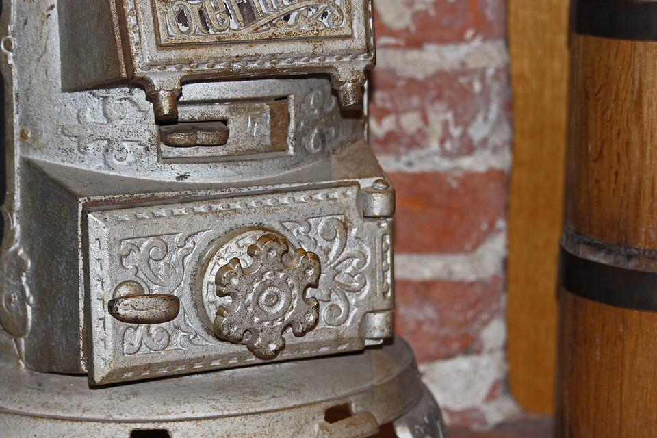 Old Furnace, Door, Historically, Close Up, Ornaments