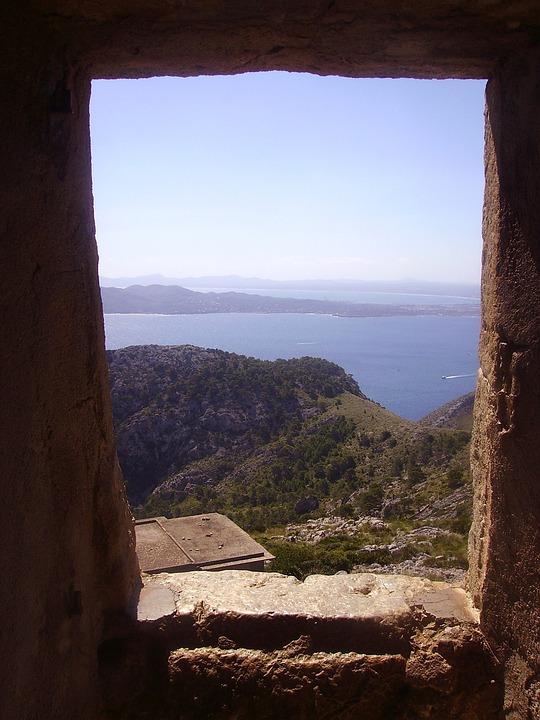 Majorca, Landscape, Door, Doorway, Stone, Sea, Ocean