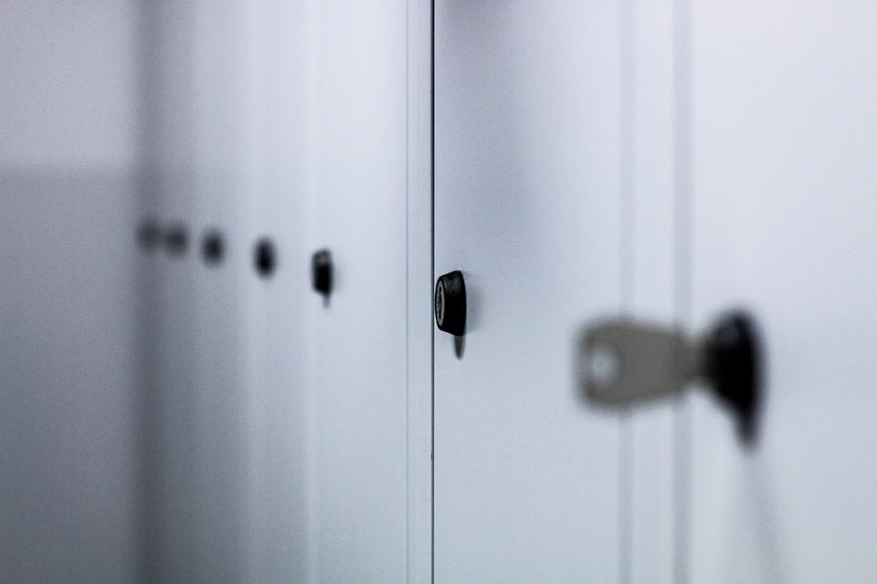 Lockers, Cabinets, Storage, Lock, Metal, Door