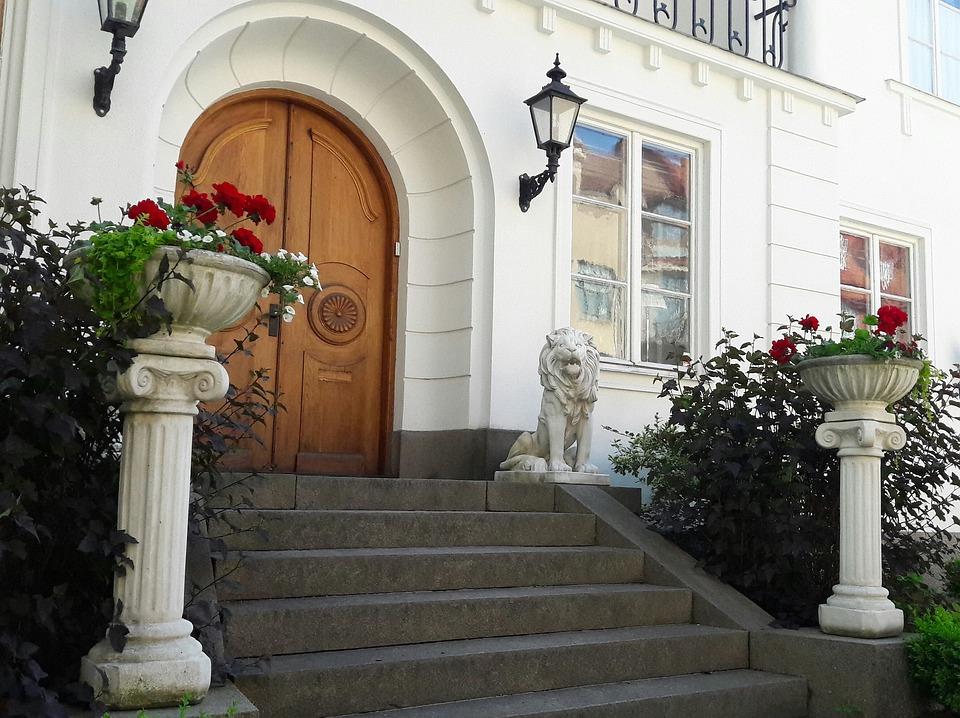 Beautiful, Beautifully, Summer, Sweden, Garden, Door