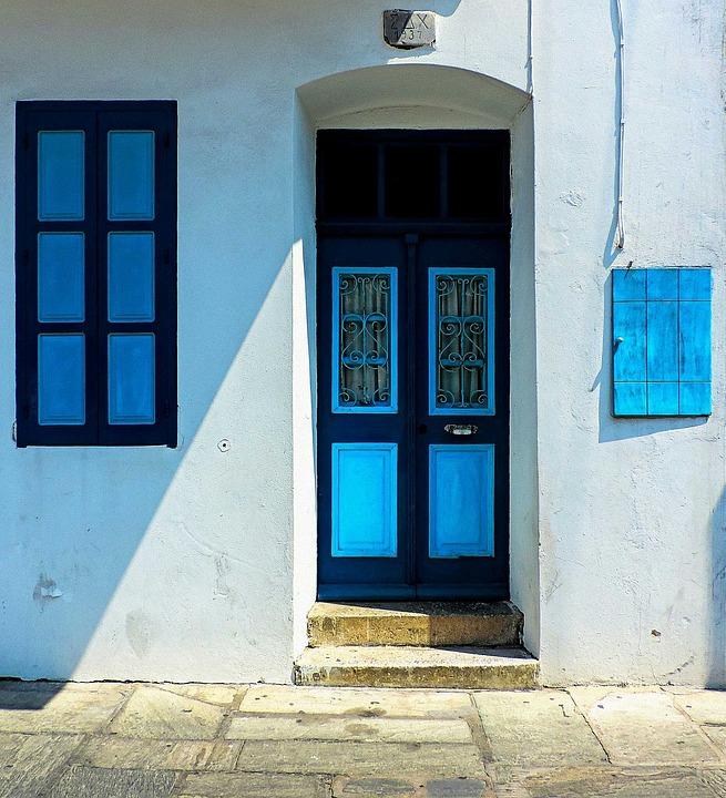 Kos, The Island Of Kos, Greece, Window, Windows, Door