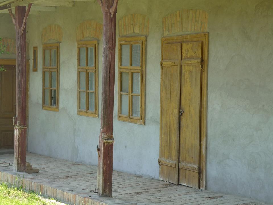 Home, Door, Old House, Window, Wood, Veranda