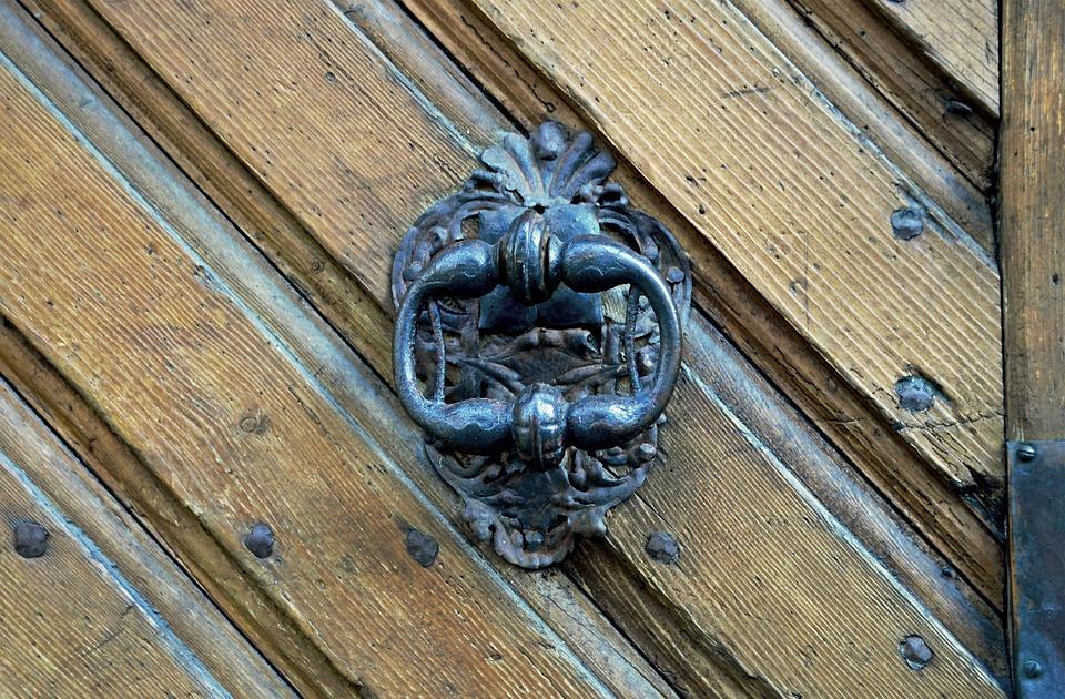 Doorknocker, Door, Castle, Handle, Heidelberg