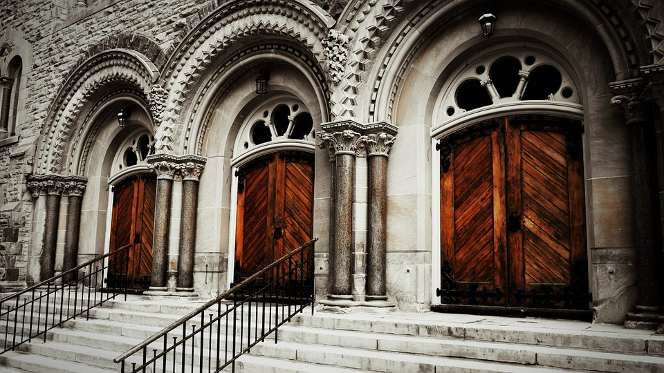 Churches, Doors, Architecture, Buildings, Vintage