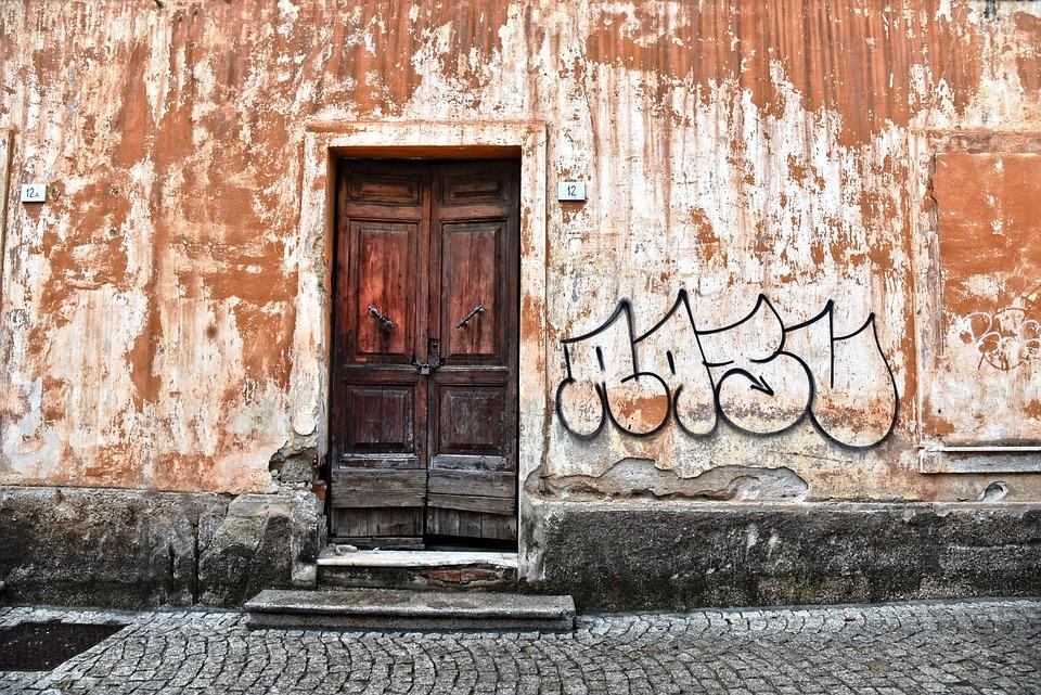 Wooden Door, Doorway, Entrance, Old, Panel, Wood