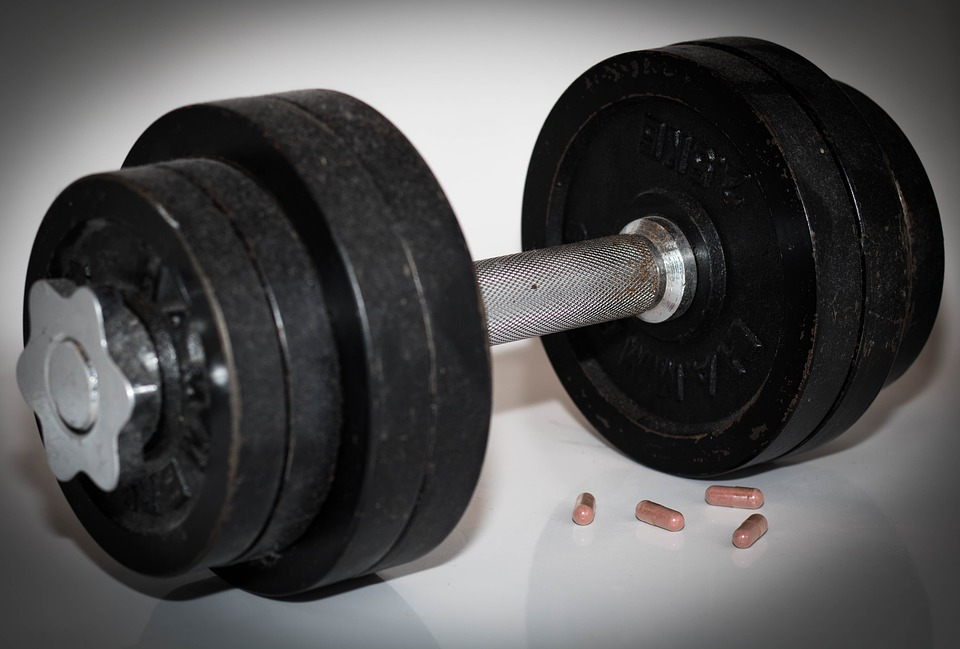 Dumbbell, Weight Lifting, Power Sports, Doping, Pills