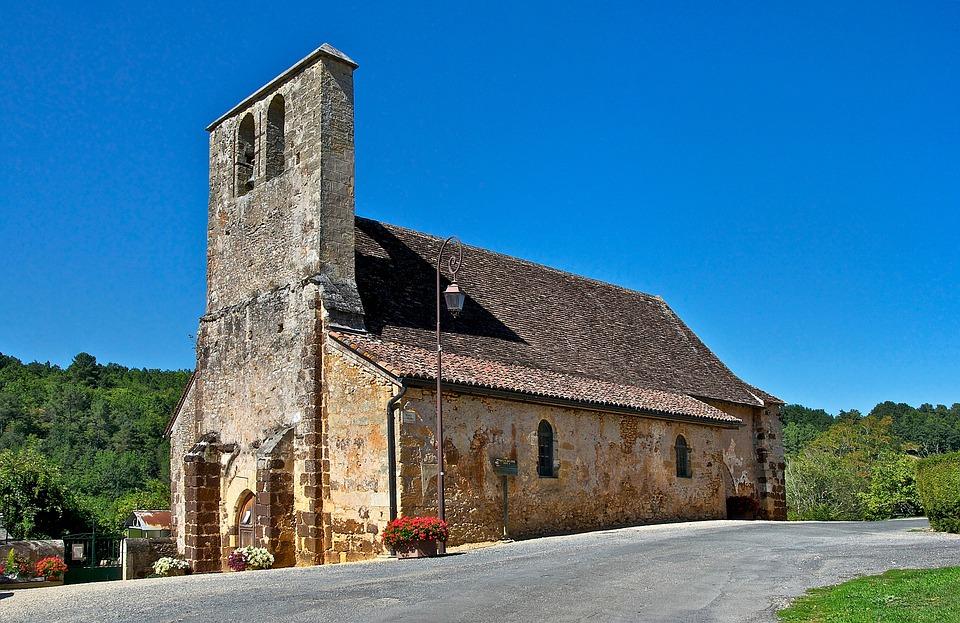 Dordogne, France, Church, Building, Architecture