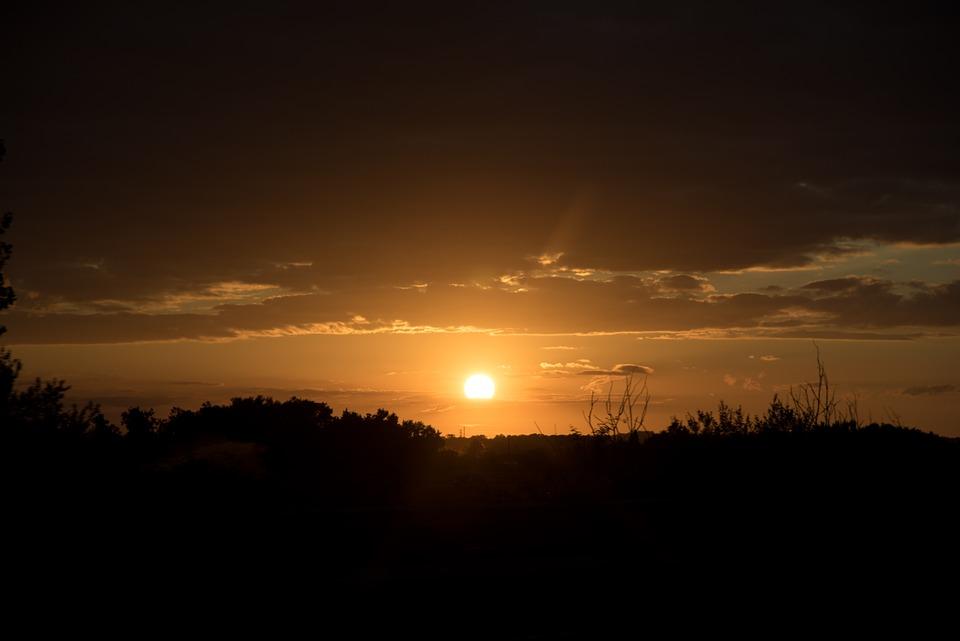 Sunset, France, Dordogne, Evening, Colorful Sunset