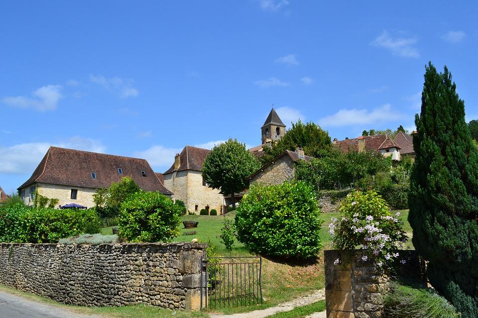 Village, Medieval Village, Houses, Portal, Dordogne