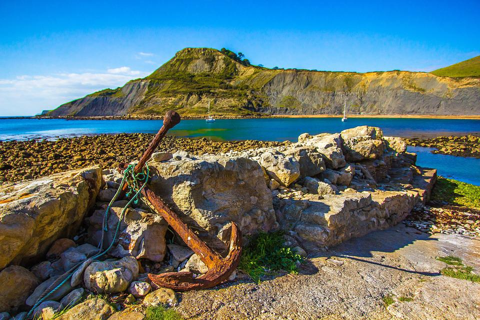 Ocean, Dorset, Anchor, Jurassic Coast, Bay