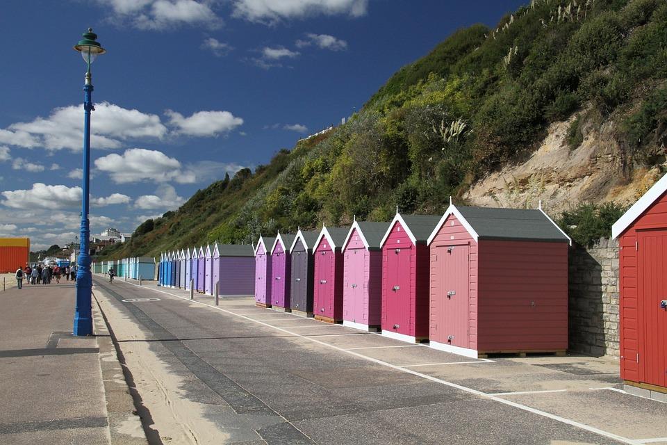 Dorset, England, Uk, Beach, Seaside, Summer, English