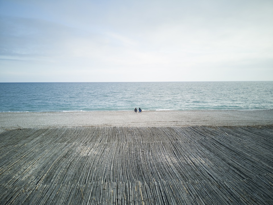 Landscape, Marine, People, Two, Double, Water, Wave