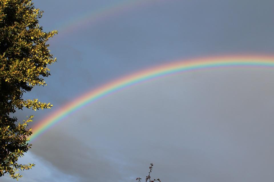 Rainbow, Double, Double Rainbow, Natural Phenomenon