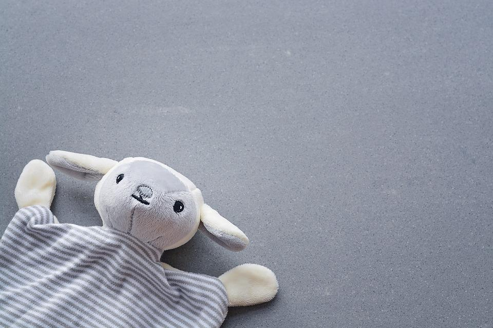 Toys, Doudou, Security Blanket, Grey, Close, Fabric