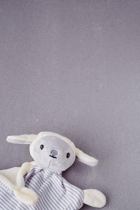 Toys, Doudou, Security Blanket, Grey, Close, Fabric
